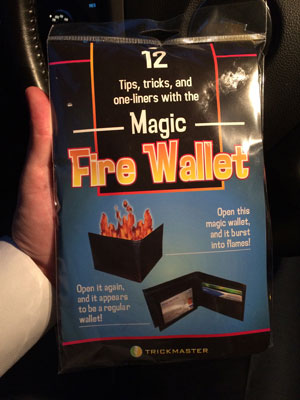 magic fire wallet